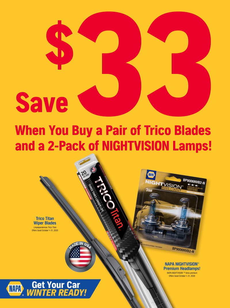 Wilsons Napa Auto Parts - blades lamps