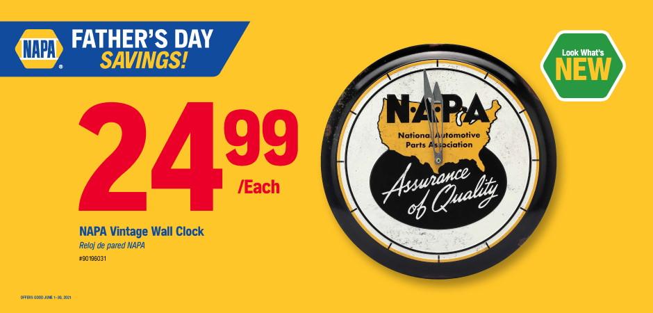 Dynaparts NAPA Auto Parts - clock