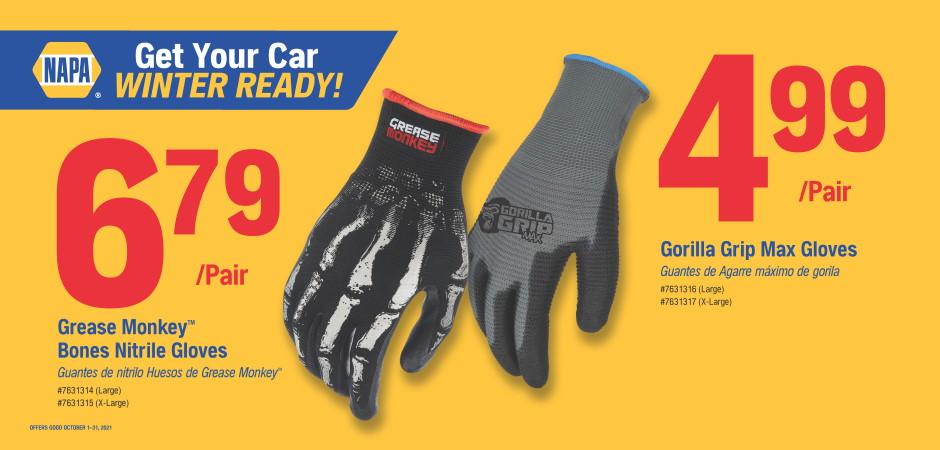 Dynaparts NAPA Auto Parts - gloves